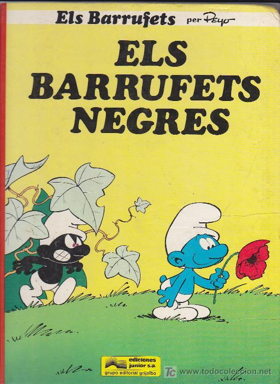 ELS BARRUFETS NEGRES - PEYO - EDICIONES JUNIOR 1983 GRIJALBO (Tebeos y Comics - Grijalbo - Otros)