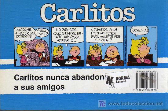 Cómics: CARLITOS, TE NECESITAMOS, Nº 25 - SCHULZ - JUNIOR/GRIJALBO MONDADORI 1995 - Foto 2 - 27109253