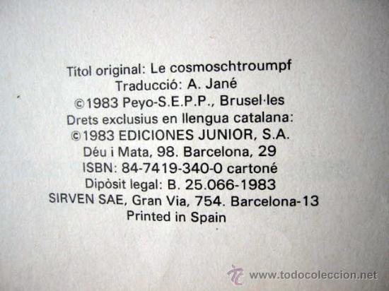 Cómics: ELS BARRUFETS - EL BARRUFONAUTA, per PEYO. Català - Foto 2 - 27372118