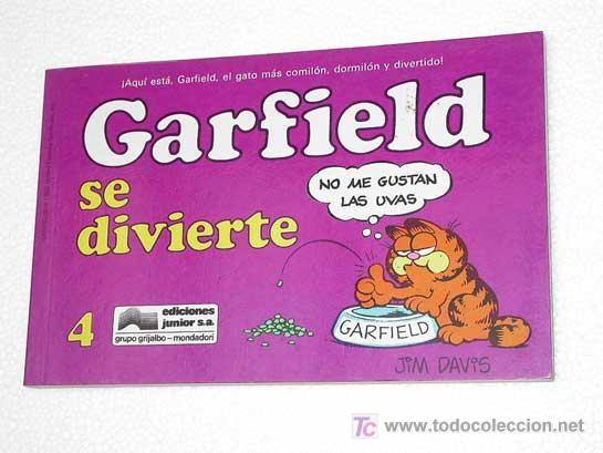 GARFIELD Nº 4. GARFIELD SE DIVIERTE. JIM DAVIES. EDICIONES JUNIOR 1990. TIRAS DE HUMOR. (Tebeos y Comics - Grijalbo - Otros)
