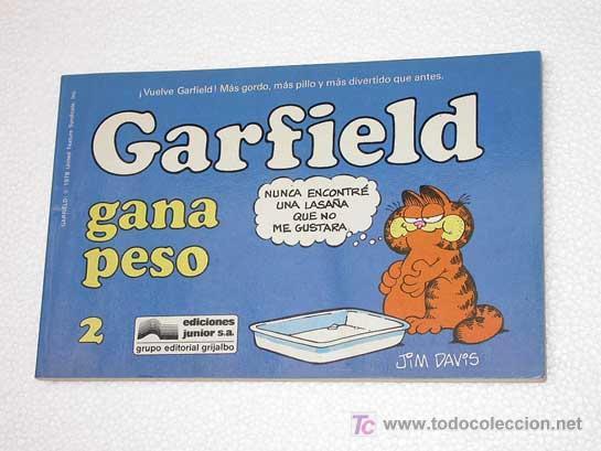 GARFIELD Nº 2. GARFIELD GANA PESO. JIM DAVIES. EDICIONES JUNIOR 1988. TIRAS DE HUMOR (Tebeos y Comics - Grijalbo - Otros)