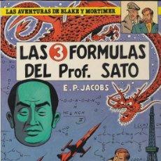 Cómics: LAS AVENTURAS DE BLAKE Y MORTIMER Nº 8. LAS 3 FÓRMULAS DEL PROF. SATO. EDICIONES JUNIOR.. Lote 19529500