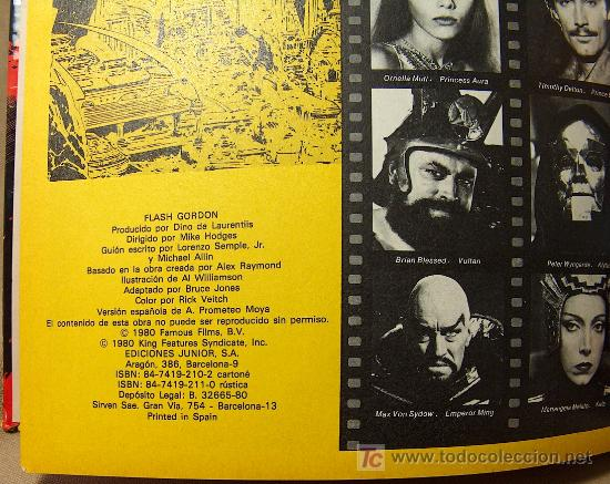Cómics: COMIC TAPA DURA, FLASH GORDON, EDICIONES JUNIOR, GRIJALBO, 64 PAGINAS, 1984 - Foto 3 - 20348321
