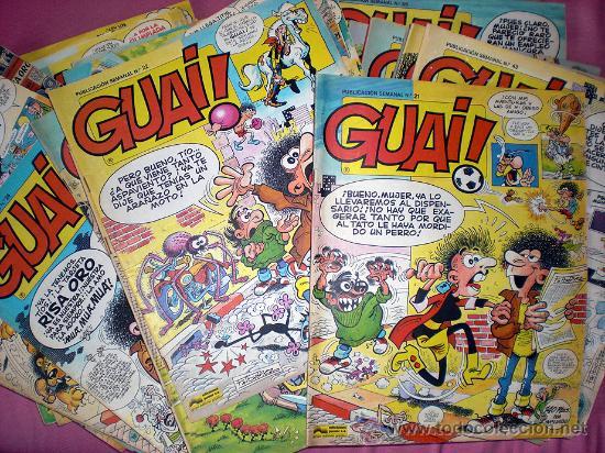 LOTE TEBEOS GUAI! (34 NUMEROS) - IBAÑEZ (Tebeos y Comics - Grijalbo - Otros)