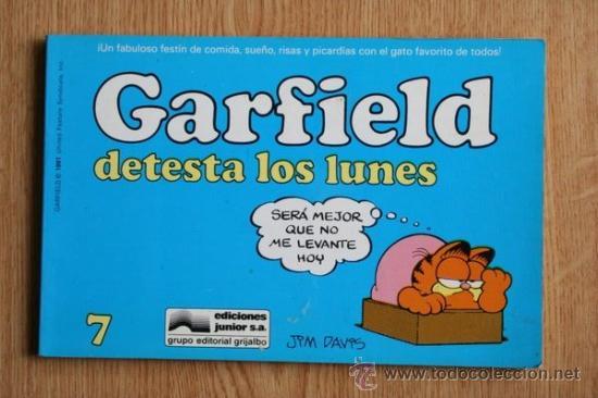 GARFIELD DETESTA LOS LUNES. Nº 7. (Tebeos y Comics - Grijalbo - Otros)