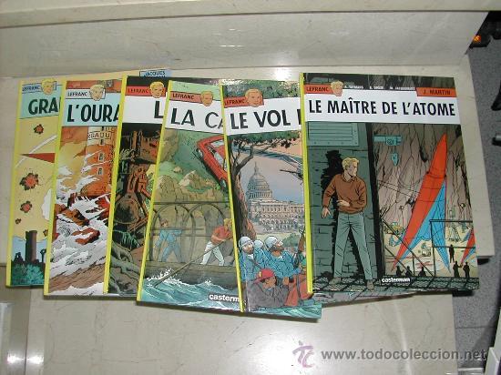 LOTE DE 6 ALBUMES LEFRANC VERSION ORIGINAL . LOTE COMPLETO O SUELTOS (Tebeos y Comics - Grijalbo - Lefranc)