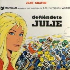 Cómics: LOS HERMANOS WOOD - Nº 2 - DEFIENDETE JULIE - JEAN GRATON - ED. JUNIOR 1977 - TAPA DURA - COMO NUEVO. Lote 32083942