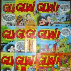 Cómics: 18 GUAI! 27-35-45-48-57-65-66-69-73-74-75-77-78-79-80-81-82-TOPE GUAI 4 GRIJALBO-IBAÑEZ-MIRLOWE-1987. Lote 26571620