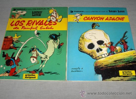 LUCKY LUKE NºS 33 RIVALES DE PAINFUL GULCH. GRIJALBO AÑOS 80. REGALO Nº 11 LAS COLINAS NEGRAS. (Tebeos y Comics - Grijalbo - Lucky Luke)