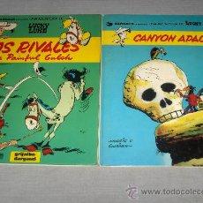 Cómics: LUCKY LUKE NºS 17 Y 33 RIVALES DE PAINFUL GULCH Y CANYON APACHE GRIJALBO.. Lote 30350539
