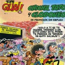 Cómics: CHICHA, TATO Y CLODOVEO Nº1 (AUTOR: IBÁÑEZ. EL DE MORTADELO Y FILEMÓN) TOPE GUAY Nº1. Lote 30680544