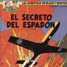 Cómics: LAS AVENTURAS DE BLAKE Y MORTIMER, EL SECRETO DEL ESPADÓN, 3 VOLÚMENES / AUTOR: E.P. JACOBS. Lote 30790005