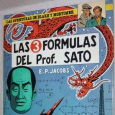 Cómics: LAS AVENTURAS DE BLAKE Y MORTIMER : LAS 3 FORMULAS DEL PROF. SATO . TOMO Nº 8. Lote 31307525