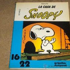 Cómics: LA CASA DE SNOOPY. SCHULZ. COLECCIÓN 16/22. GRIJALBO 1983.. Lote 32036734