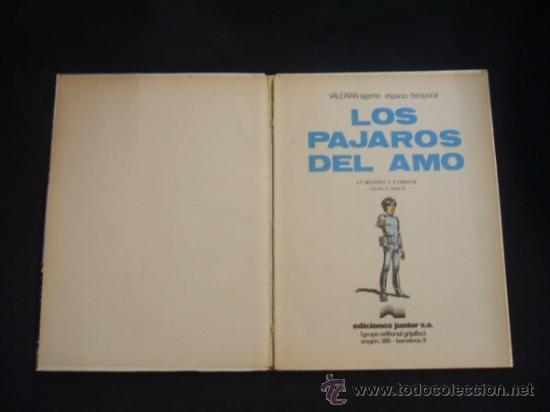 Cómics: VALERIAN - Nº 4 - LOS PAJAROS DEL AMO - GRIJALBO - - Foto 2 - 33010382