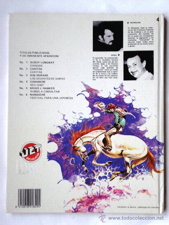 Cómics: COMANCHE I - Hermann & Greg- JET BRUGUERA Nº 4 1ª PRIMERA Edición 1983 Tapa DURA Coleccionistas - Foto 2 - 33757065