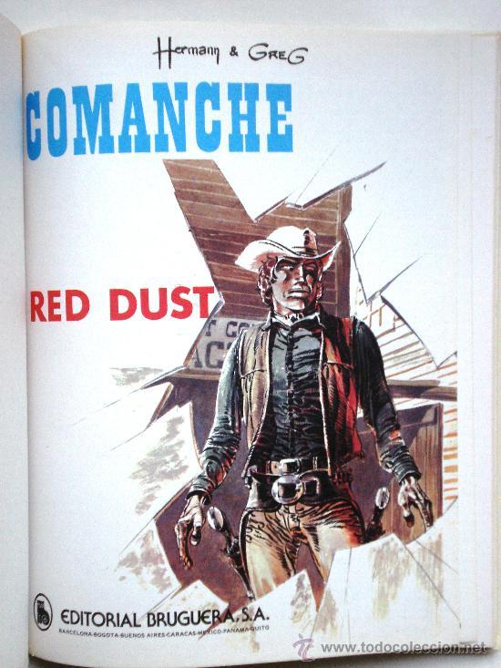 Cómics: COMANCHE I - Hermann & Greg- JET BRUGUERA Nº 4 1ª PRIMERA Edición 1983 Tapa DURA Coleccionistas - Foto 3 - 33757065