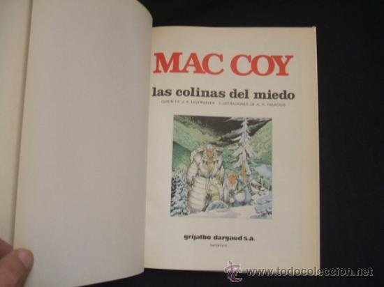 Cómics: MAC COY - Nº 13 - LAS COLINAS DEL MIEDO - GRIJALBO - DARGAUD - EXC. ESTADO, COMO NUEVO - - Foto 2 - 34341741