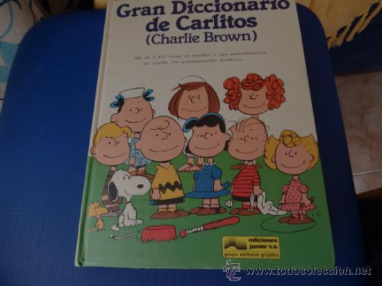 GRAN DICCIONARIO DE CARLITOS (ESPAÑOL – INGLÉS) COMPLETO DE A A Z EN 1 TOMO DE 444 PÁGS. (Tebeos y Comics - Grijalbo - Otros)