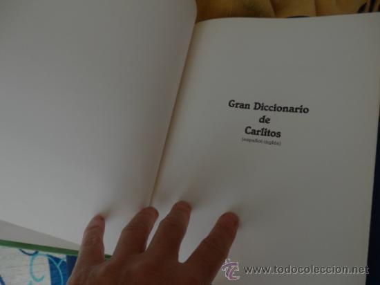 Cómics: GRAN DICCIONARIO DE CARLITOS (español – Inglés) COMPLETO de A a Z en 1 tomo de 444 págs. - Foto 2 - 34495600