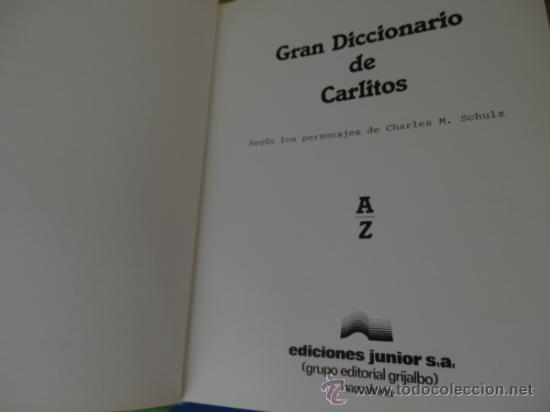 Cómics: GRAN DICCIONARIO DE CARLITOS (español – Inglés) COMPLETO de A a Z en 1 tomo de 444 págs. - Foto 3 - 34495600