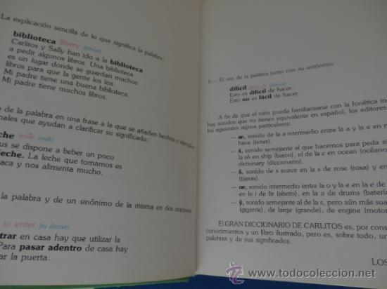 Cómics: GRAN DICCIONARIO DE CARLITOS (español – Inglés) COMPLETO de A a Z en 1 tomo de 444 págs. - Foto 4 - 34495600