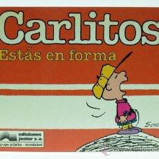 Comics : CARLITOS CHARLIE BROWN SCHULZ ESTÁS EN FORMA Nº 5 ED JUNIOR GRIJALBO 1990. Lote 138777872