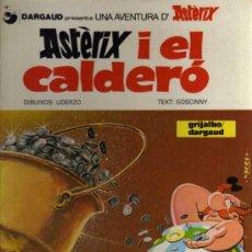 Fumetti: ASTERIX I EL CALDERÓ - UDERZO/GOSCINNY - 1982 - GRIJALBO/DARGAUD - EN CATALÁN. Lote 36002875