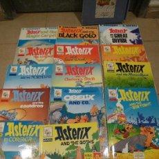 Cómics: LOTE 14 COMICS ASTERIX EN INGLES EDICIONES EL PRADO CON CARPETA. Lote 36747174
