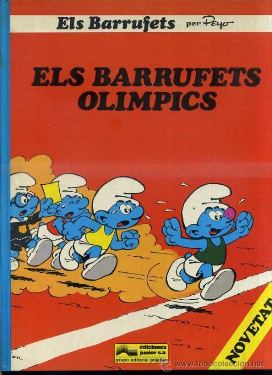 PEYO - LOS PITUFOS : ELS BARRUFETS OLÍMPICS (1983) 1ª EDICIÓN (Tebeos y Comics - Grijalbo - Otros)