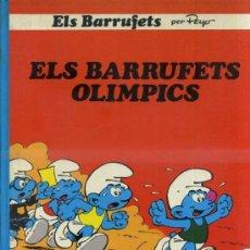 Cómics: PEYO - LOS PITUFOS : ELS BARRUFETS OLÍMPICS (1983) 1ª EDICIÓN. Lote 37613682