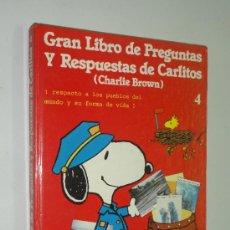 Cómics: GRAN LIBRO DE PREGUNTAS Y RESPUESTAS DE CARLITOS (CHARLIE BROWN) VOL. 4 - GRIJALBO 1983. Lote 38888806