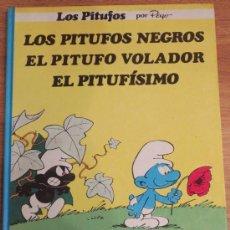 Cómics: LOS PITUFOS NEGROS, EL PITUFO VOLADOR, EL PITUFÍSIMO PEYO EDITORIAL GRIJALBO AÑO 1983. Lote 39229299
