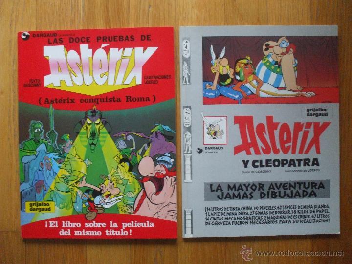 LOTE 2 COMICS ASTERIX, LEER (Tebeos y Comics - Grijalbo - Asterix)