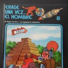 Cómics: ERASE UNA VEZ... EL HOMBRE. Nº 8. EL SIGLO DE ORO / LA INGLATERRA ISABELINA. EDICIONES JUNIOR. 1989.. Lote 44839195