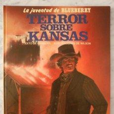 Cómics: LA JUVENTUD DE BLUEBERRY - Nº 27 - TERROR SOBRE KANSAS - GRIJALBO/DARGAUD - 1988 (EXCELENTE ESTADO). Lote 39977165