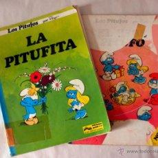Cómics: LOTE DE 2 COMIC DE LOS PITUFOS * EL BEBÉ PITUFO + LA PITUFINA * JUNIOR GRIJALBO. Lote 40035950