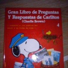 Cómics: GRAN LIBRO DE PREGUNTAS Y RESPUESTAS DE CARLITOS (CHARLIE BROWN) Nº 4. Lote 41013204