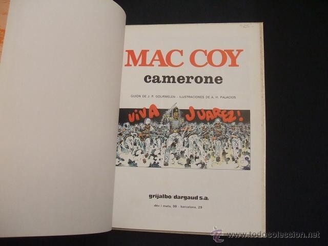 Cómics: MAC COY - Nº 11 - CAMERONE - GRIJALBO - - Foto 2 - 41413867