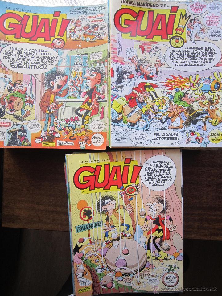 LOTE DE 48 CÓMICS GUAI! IBAÑEZ. JUNIOR GRIJALBO-EDICIONES B. EXCELENTE ESTADO TEBENI (Tebeos y Comics - Grijalbo - Otros)