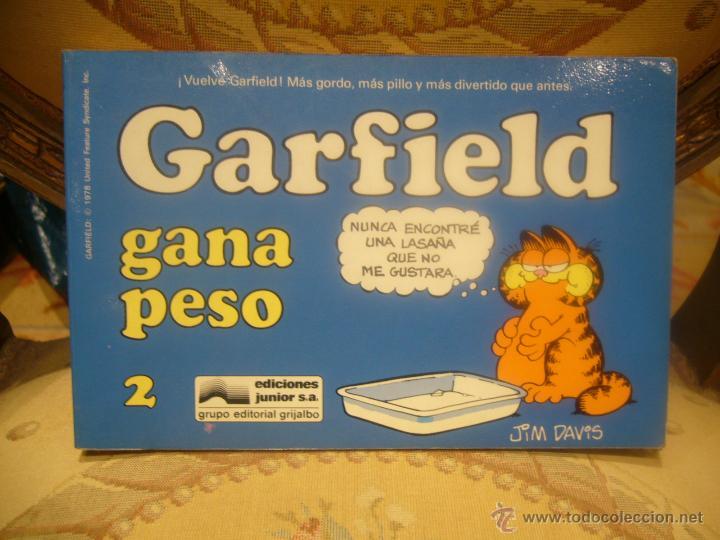 GARFIELD Nº 2. GARFIELD GANA PESO, DE JIM DAVIS. (Tebeos y Comics - Grijalbo - Otros)