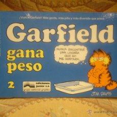 Comics : GARFIELD Nº 2. GARFIELD GANA PESO, DE JIM DAVIS.. Lote 41917578
