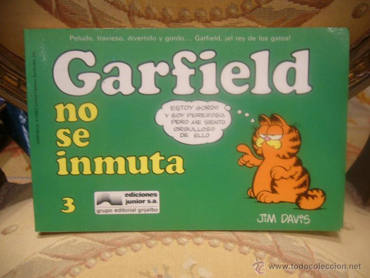 GARFIELD Nº 3. GARFIELD NO SE INMUTA, DE JIM DAVIS. (Tebeos y Comics - Grijalbo - Otros)