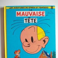 Cómics: SPIROU Y FANTASIO-LA MAUVAISE TETE-Nº8-FRANCES-EDITORIAL DUPUIS-TAPA DURA. Lote 42372564