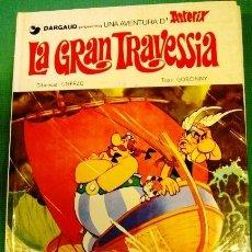 Cómics: COMIC ASTERIX EN CATALAN LA GRAN TRAVESSIA TAPAS DURAS EN MUY BUEN ESTADO. Lote 42570197