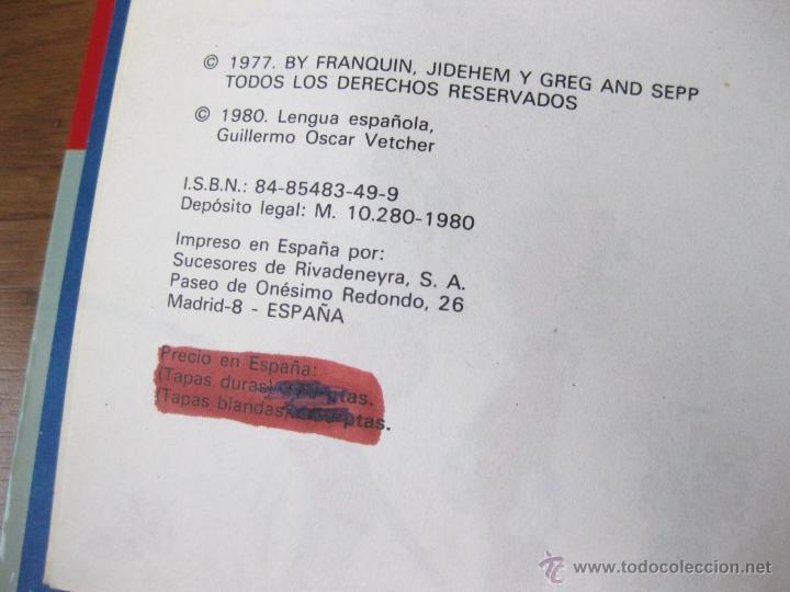 Cómics: LAS AVENTURAS DE SPIROU Y FANTASIO NUMERO 15 B - COMO ZORGLUB - TAPAS DURAS 1980 - Foto 3 - 42702374