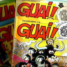 Cómics: LOTE REVISTA GUAI ! - 4 NUMEROS ( REBOLLO STREET, SNOOPY, GARFIELD, LUCKY LUCKE, SPIROU, ETC . Lote 43014421