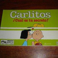 Cómics: CARLITOS Nº3 - CUAL ES TU SECRETO - GRIJALBO EDIC JUNIOR 1987. SCHULZ. Lote 43545318