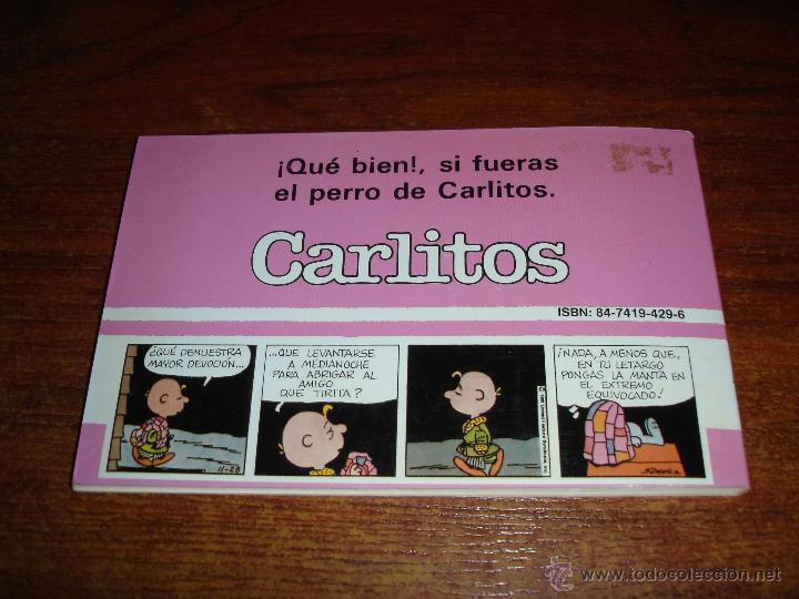 Cómics: CARLITOS Nº4 - CUIDA A SNOOPY - GRIJALBO Edic JUNIOR 1987. SCHULZ - Foto 3 - 43545469