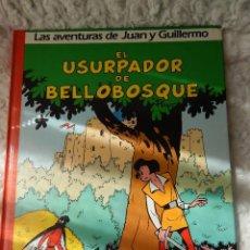 Cómics: LAS AVENTURAS DE JUAN Y GUILLERMO N. 2 EL USURPADOR DE BELLOBOSQUE. Lote 43969835